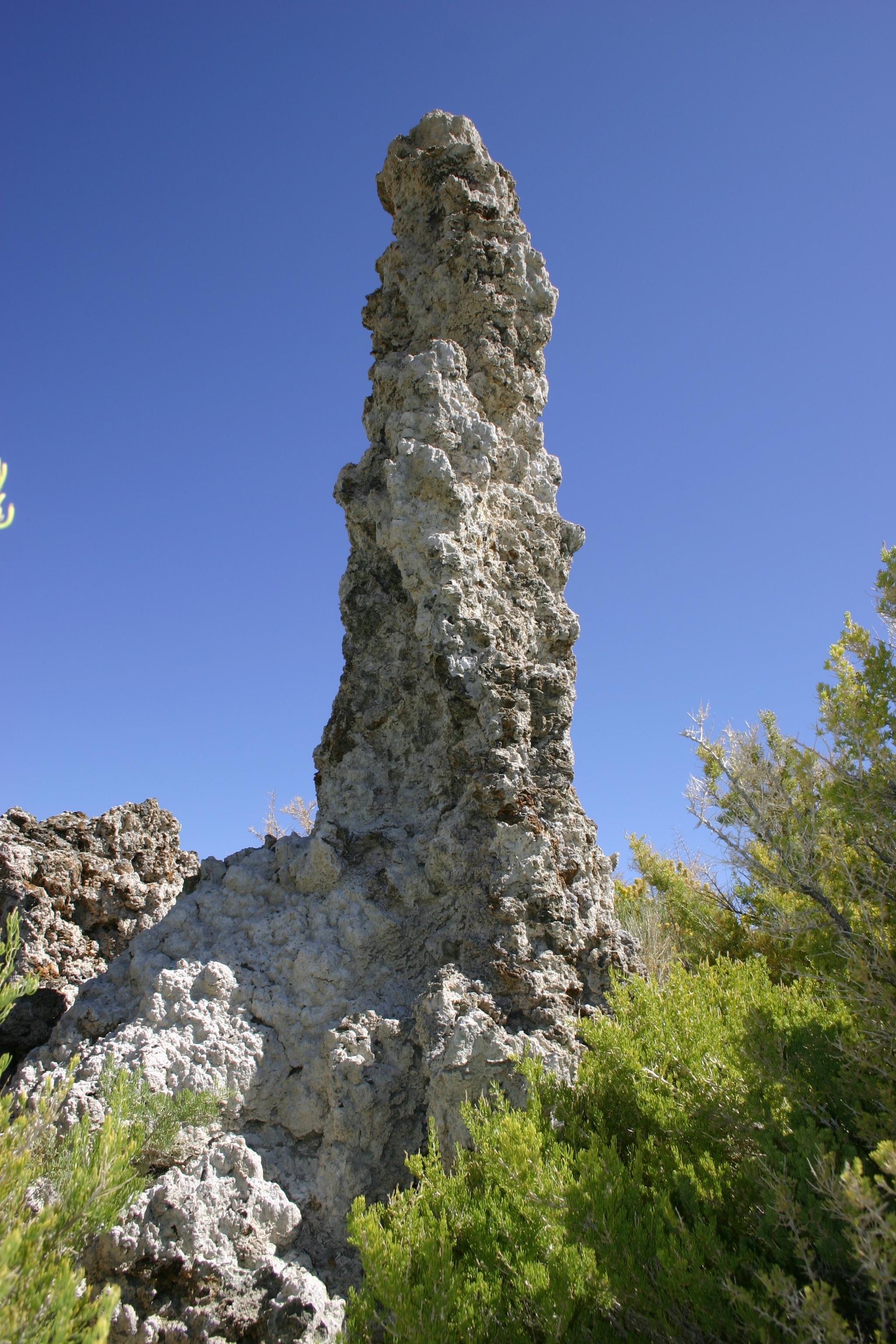 Tall tufa tower at Mono Lake.