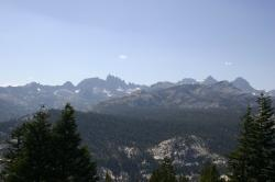 A mountain range near Mammoth Lakes, California.