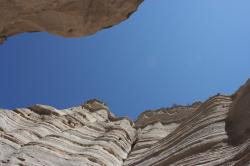 Slot canyon in Kasha-Katuwe Tent Rocks National Monument in New Mexico.