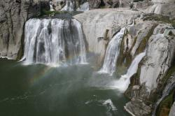 Rainbow at the base of Shoshone Falls (sometimes called the