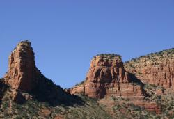 Red rock towers in Sedona.