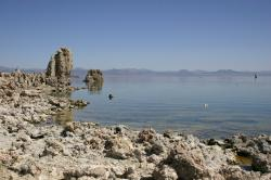 Tufa along the shore at Mono Lake.