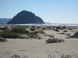 The impressive Morro Rock in Morro Bay, California.