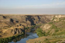 Perrine Bridge over the Snake River Canyon.