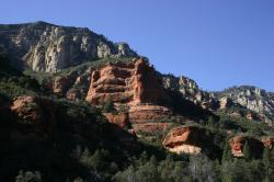Red rock mountains in Sedona.
