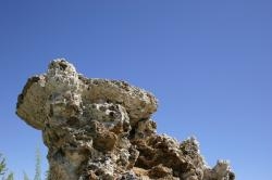 A strangely shaped tufa tower at Mono Lake.