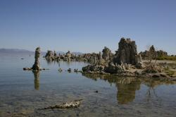 Tufa towers in Mono Lake.