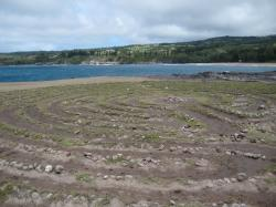 Labyrinth near Dragon's Teeth, Kapalua, Maui.